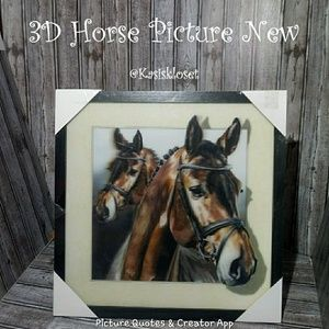 3D Horse Picture / Wall Art New In Box